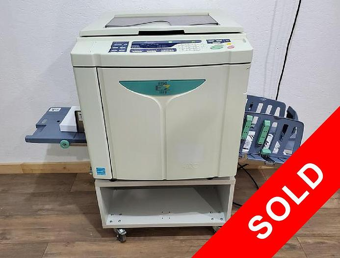 Used Riso EZ391u Digital Duplicator with Network Print and Stand. Only 670K Meter!