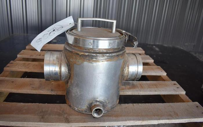 "USED 3"" ERIEZ MAGNETICS JACKETED MAGNET TRAP, STAINLESS STEEL"
