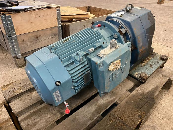 Used ABB Motors Electric motor with reducer 11 kW