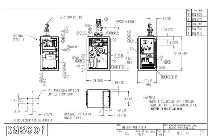 Pascor 240KV Motor Switch - VERTICAL BREAK, 3 PHASE