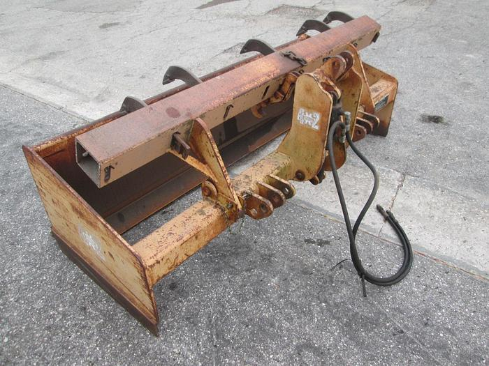 """Gannon 80"""" Box Blade With Hydraulic Rippers"""
