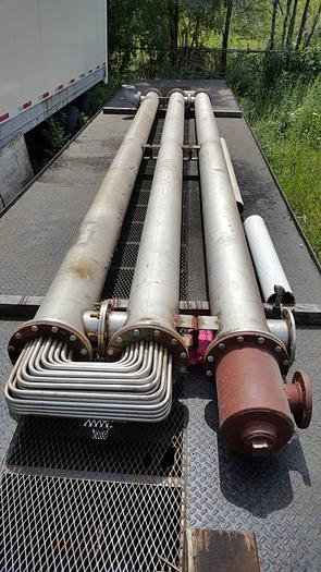 24 FOOT LONG THREE TIER STAINLESS STEEL HEAT EXCHANGER