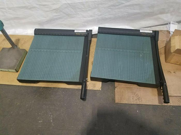 """Used Premier Paper Cutters 18"""" Cutting Length Steel Blade Excellent!"""