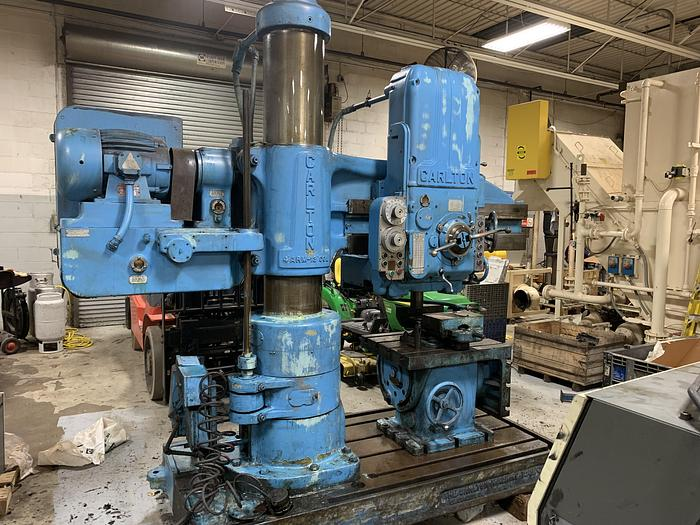 "Used CARLTON 4' X 13"" COLUMN RADIAL DRILL WITH 3A PRE-SELECT HEAD"