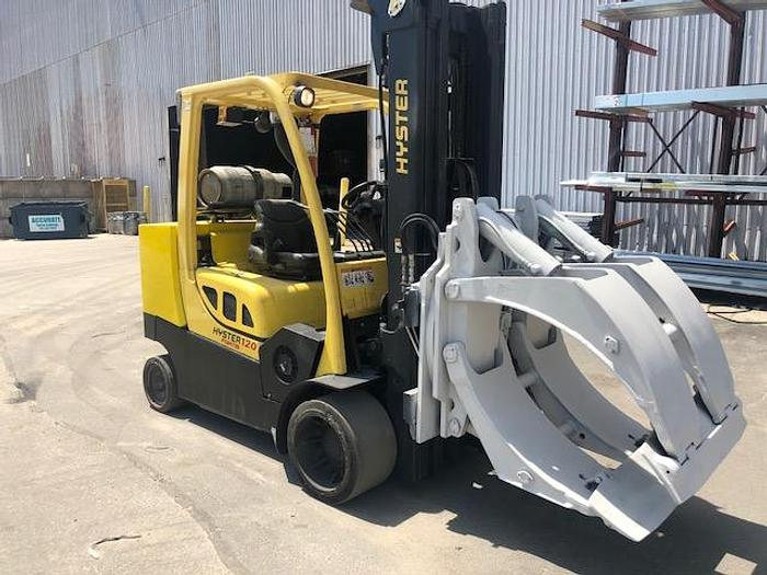 """Used 12,000 LB HYSTER ROLL CLAMP TRUCK S120FTPRS W/ 60"""" OD ROLL CAPACITY MFG. (2006)"""
