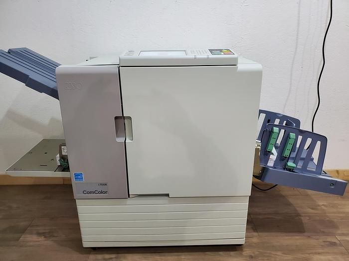 Used Riso ComColor 7010R Full Color Inkjet Printer with Auto Stacking Tray. Only 200K Meter!