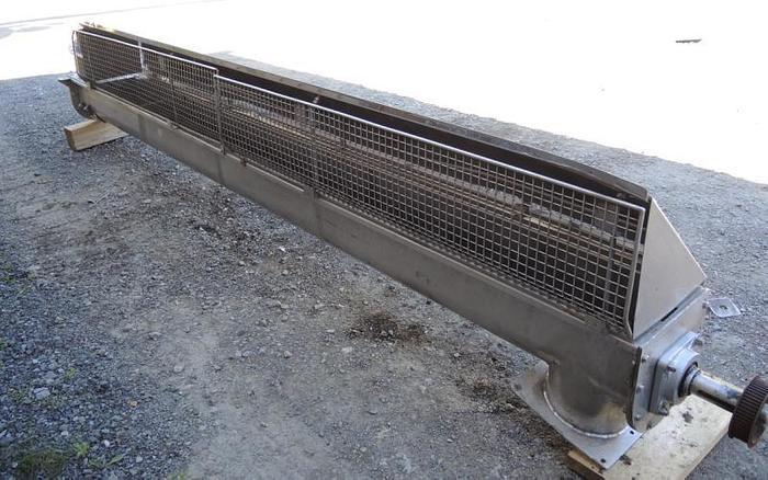 """USED SCREW CONVEYOR, 9"""" DIAMETER X 146'' LONG, STAINLESS STEEL"""