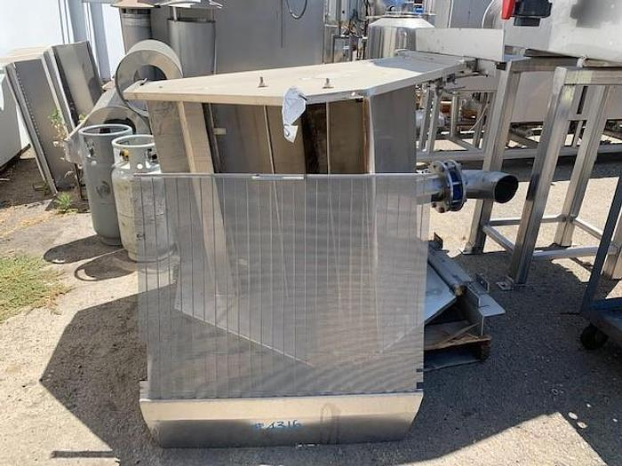 """Used 36"""" Stainless Steel Wastewater Screen"""