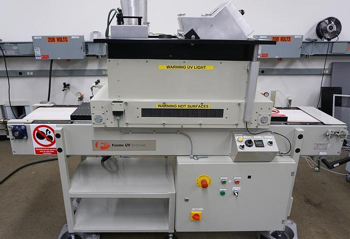 Used 2005 Fusion UV Systems (Heraeus Noblelight) DRSE-101-QNL UV conveyor curing oven