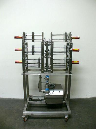 Used Amersham Bioscience KvickFlow Cassette Filtration Skid w/ Hydraulic Pump