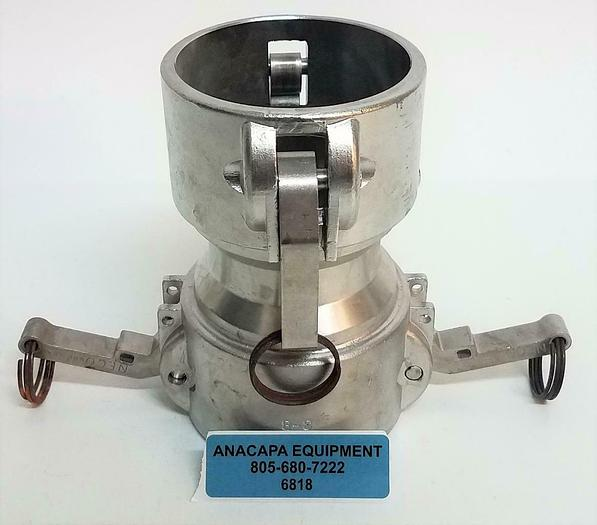 """Used Neco Hou TX 3-B Stainless Steel Coupling 3.5"""" with Fitting 9.5mm 1'' (6818)Z"""