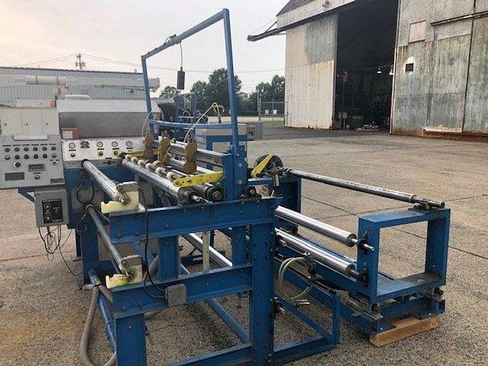 "Used 66"" R&K SEMI AUTO COUNTER ROLL SLITTER REWINDER"