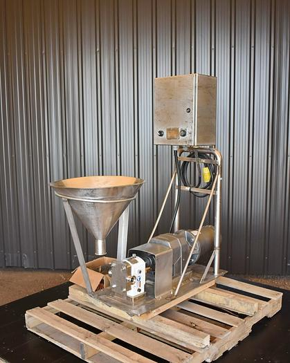 Used USED SPX R2 ROTARY LOBE PUMP, STAINLESS STEEL, VARIABLE SPEED