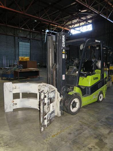 """Used 5000 POUND ROLL CLAMP TRUCK W/ 60"""" DIAMETER CLAMP"""