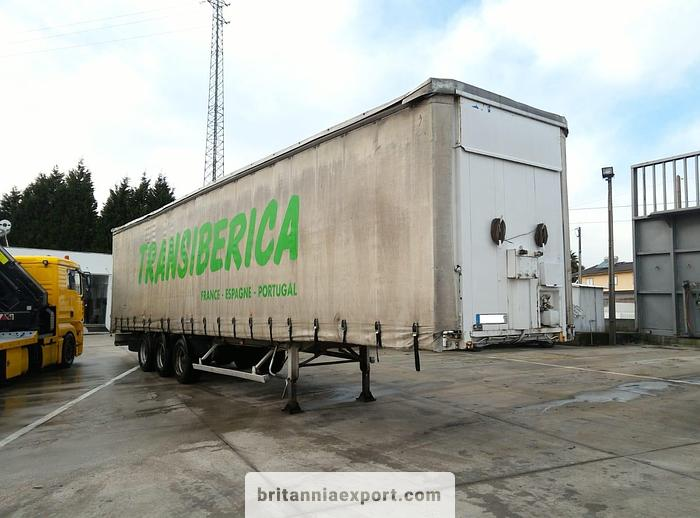 Used 1996 FRUEHAUF Full steel frame tri axle with lifting roof