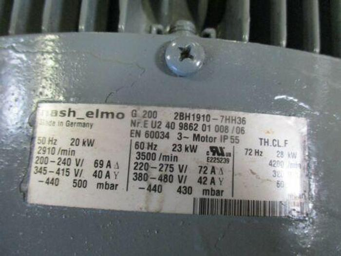 NASH ELMO G 200 2BH1910-7HH36 30HP VACUUM REGENERATIVE BLOWER