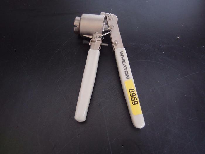Used Wheaton Crimper Hand Held Cap Sealer (959)