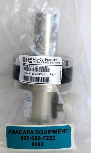 "Nor-Cal CSVP-0382-CF 3/8"" Pneumatic Right Angle Poppet Valve 1.33"" OD New (8083)"