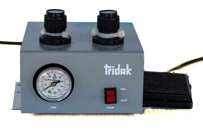 Used Tridak Model 175 Adhesive Dispenser With Treadlite Footswtich T-51-S (7493) W
