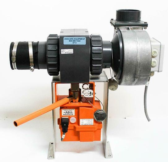 Used Georg Fischer GF Actuator EA30, 370, EBM G2D160-AF02-01 Blower System (5713)