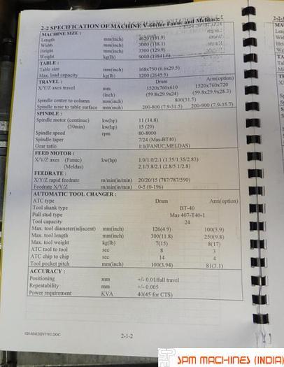 Leadwell V60 VMC - 2005