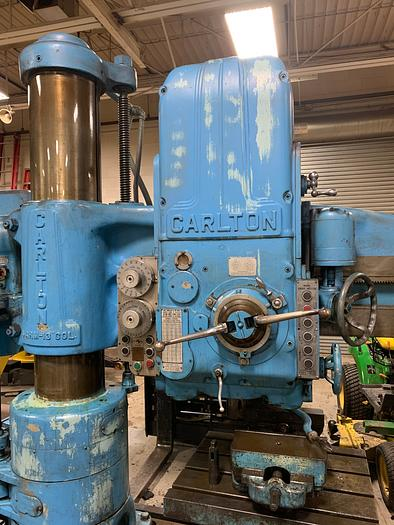 "CARLTON 4' X 13"" COLUMN RADIAL DRILL WITH 3A PRE-SELECT HEAD"