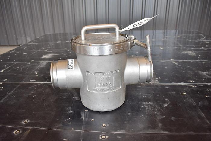 """Used USED 3"""" ERIEZ MAGNETICS MAGNET TRAP, 316 STAINLESS STEEL"""