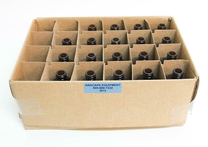 Qorpak GLA-00895 8oz Amber Glass Bottles Lot of 19 NEW (5815)