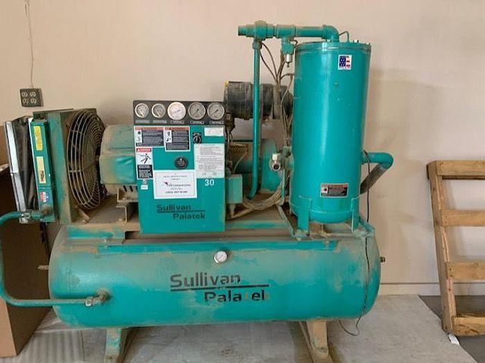 Sullivan 30 HP Horizontal Screw Compressor