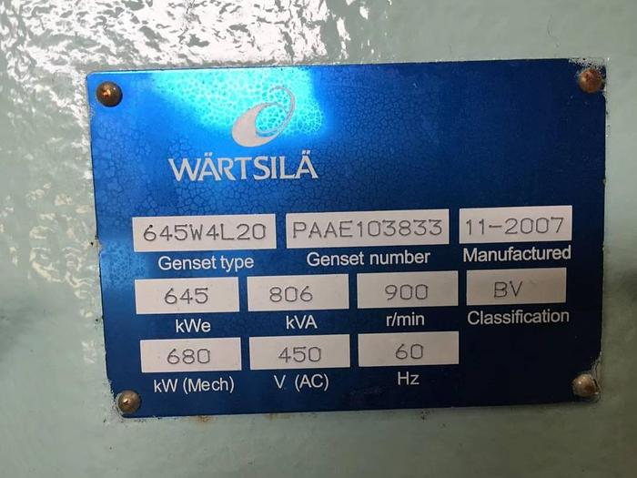 Wartsila W4L20 – 3 x Brand New sets available.