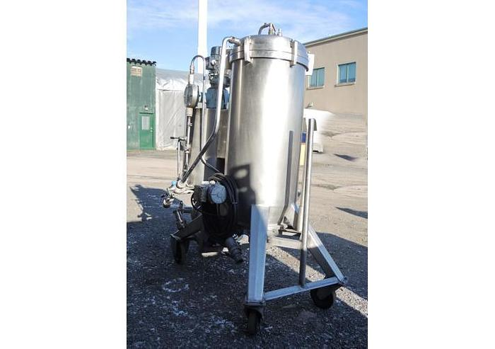 USED DIATOMACEOUS EARTH FILTER, 60 SQ.FT., STAINLESS STEEL, VERTICAL