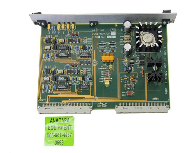 Used IVS 0001-00472-01 REV. A PCB / Interface Card from IVS 220 CD SEM (3593)