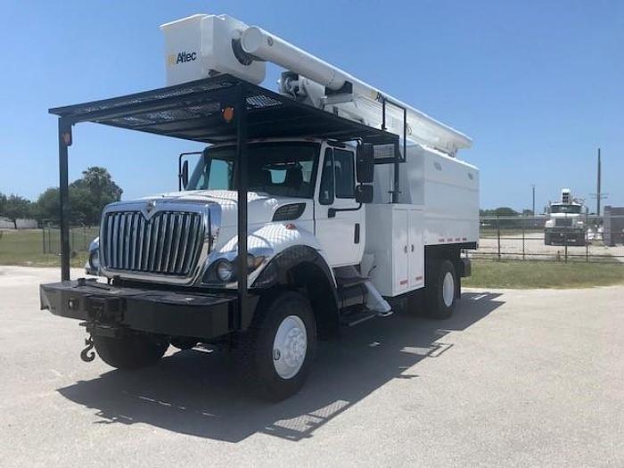 Used 2011 International 7400 4x4 Altec LRV-55 60ft Forestry Bucket Truck - C31083