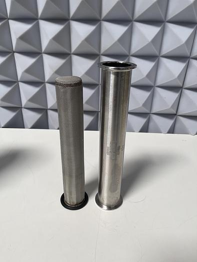 "Used Arbor Fab Filter Cartridge w/ 2 1/2"" x 12"" Inline Sanitary Filter"