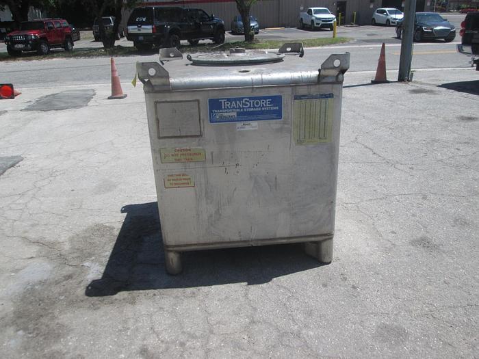 Used 350 Gallon Stainless Steel Liquid Storage Tank
