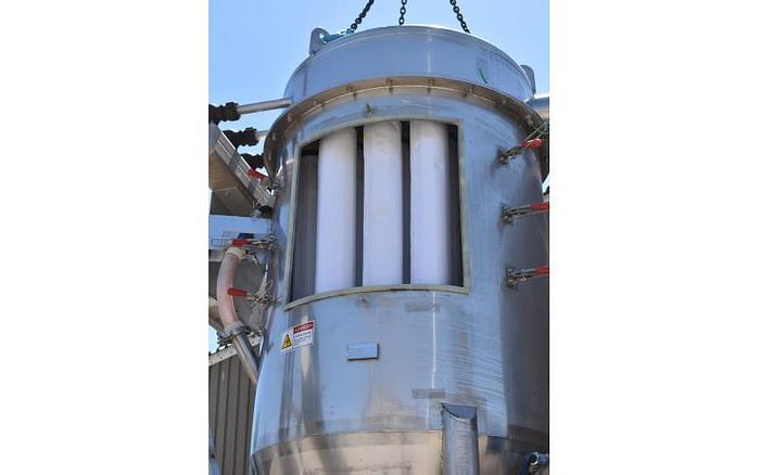 USED DUST COLLECTOR, PULSE AIR, 540 CFM APPROX., 90 SQ.FT., STAINLESS STEEL