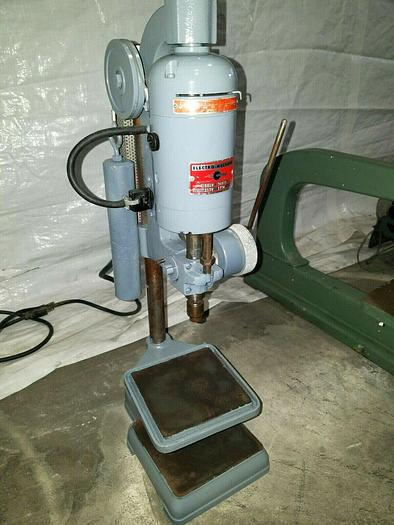 Used Electro Mechano Drill Press Model 101W Adjustable Spindle Speed to 10