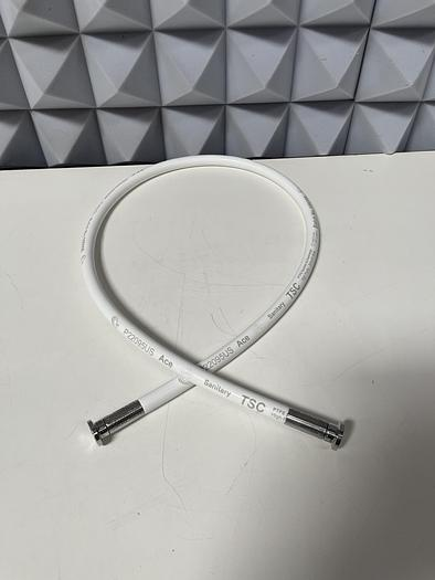 """Used Ace Sanitary 109208 PTFE 50"""" Silicon Hose w/ 1"""" Sanitary Fitting"""