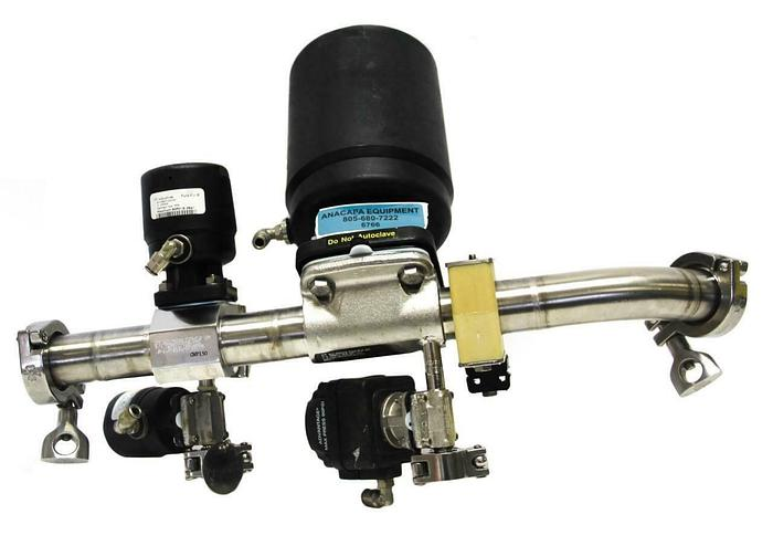 "Used ITT Pure-FLO Manifold & Sanitary Diaphragm Valves 1.5""-AP1506 .5""-AP0509 (6766)W"