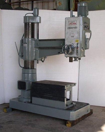 """Used 3' x 9"""" JET Model JRD-939 Radial Arm Drill; T-Slotted Table; Mfg. 1985 - LIKE NEW"""