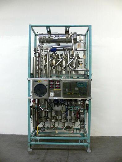 Used FINN-AQUA 300 H 4 Multiple Effect Water Still Skid w/ Heat Exchanger  WFI Skid