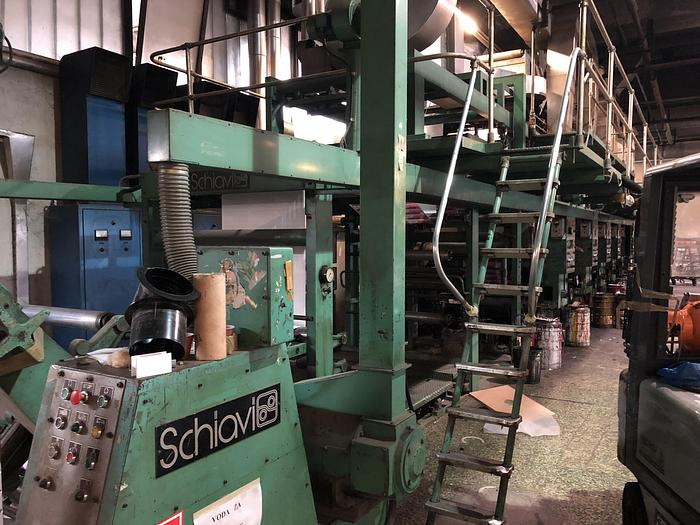 SCHIAVI 6 col. gravure printing machine