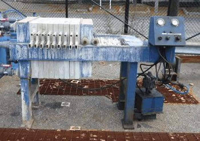 Used 3 CU. FT. HOESCH FILTER PRESS POLYPRO 630MM  AUTOMATIC HYDRAULIC CLOSURE