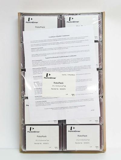 Perkin Elmer RoboRack 6000679 20µL Disposable Tips NEW LOT OF 960 Tips (6053)