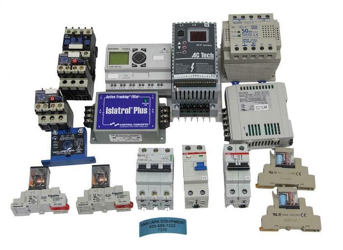 Used LogoTron LGR18C AC Idec PS5R-D24 Omron Drive, Breaker, Power Supply, Relay  7370