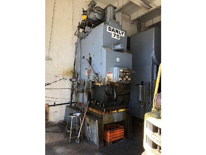 Used 75 Ton Danly OBI Mechanical Press