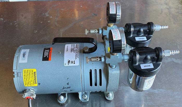 Used Gast 0523-V4-G588DX 1/4 HP Vacuum Pump 120/240 V