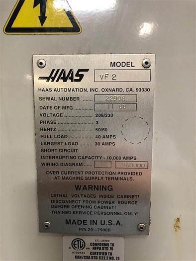 Used 2000 Haas VF2B