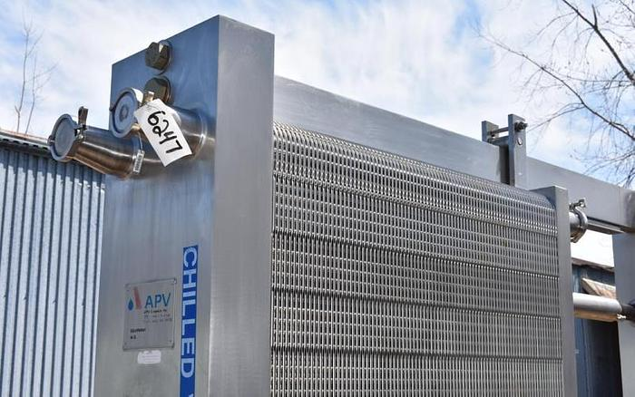 USED APV SANITARY PLATE HEAT EXCHANGER, APPROX. 1140 SQ.FT.