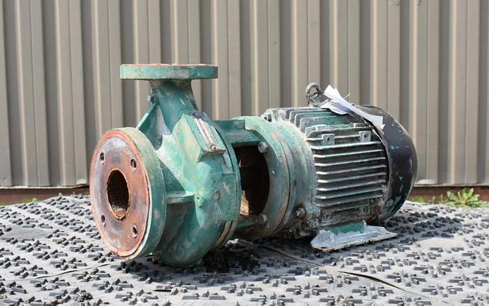 "USED CENTRIFUGAL PUMP, 3"" X 2"" INLET & OUTLET, CARBON STEEL"